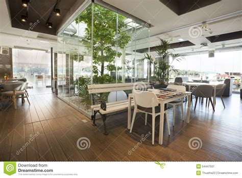 Plantation House Plans beautiful cafe interior with tree stock image image of