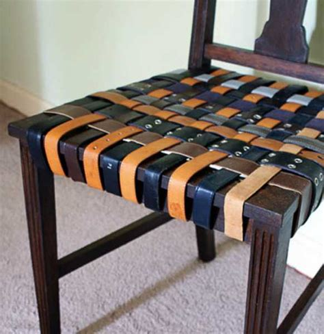 12 fabulous design ideas recycling leather belts for home