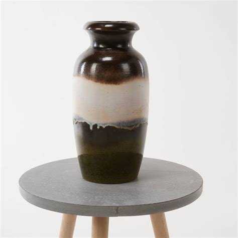 large vintage brown and scheurich vase by iamia