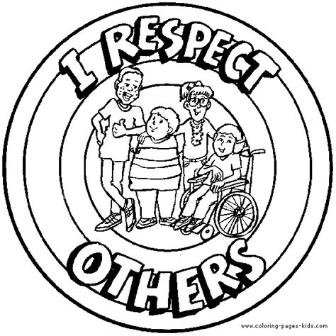 Respect Coloring Pages coloring pages about respect coloring pages