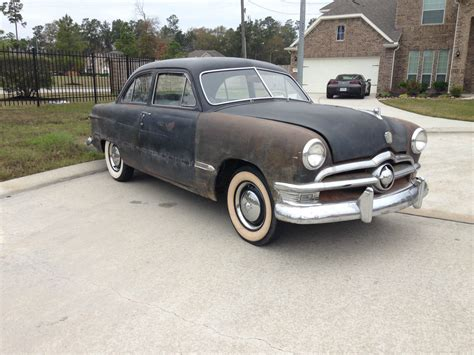 1950 shoebox ford custom 2 door tudor sedan no reserve