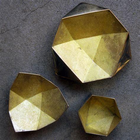 Origami Bowl - brass origami bowls from task garmentory