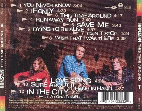 Time And Time Around this time around hanson songs reviews credits allmusic