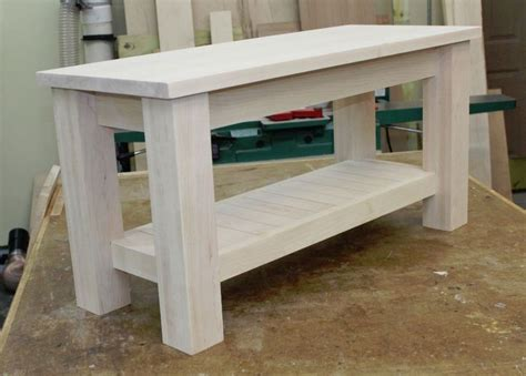 making  sturdy modern entryway bench woodworking