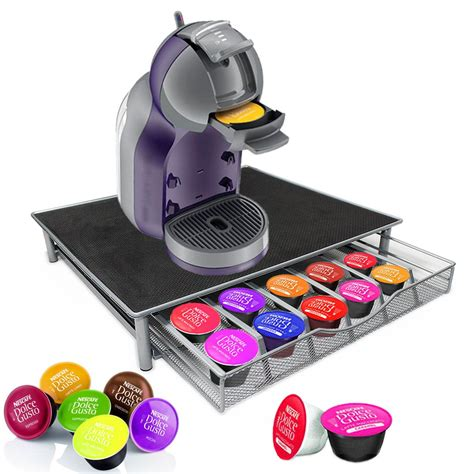 coffee pod drawer dolce gusto silver coffee machine stand capsule holder drawer