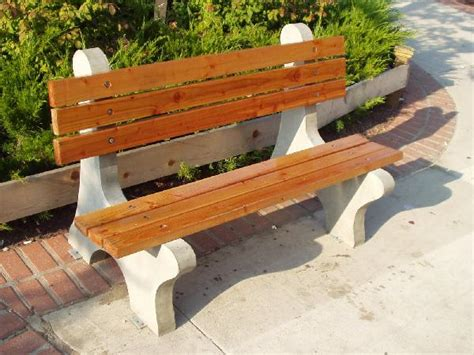 concrete bench ends june newsletter new planters and benches