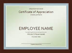 template for a certificate of appreciation certificate of appreciation template free
