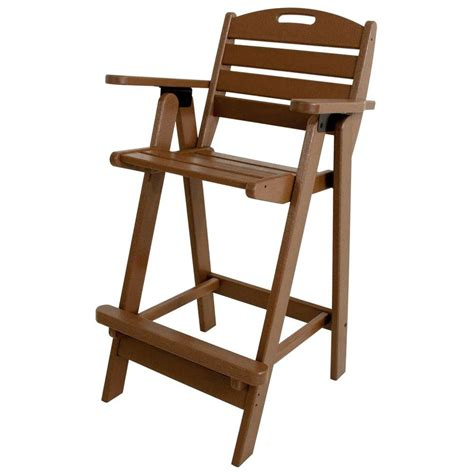 plastic outdoor polywood nautical teak plastic outdoor patio bar chair