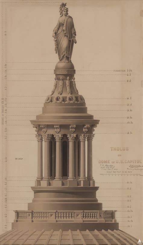 Cast Iron Pedestal Dome By The Numbers Architect Of The Capitol United