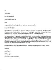 offer letter template free sle offer letter 9 documents in word
