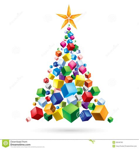 abstract christmas tree stock photo image 28246760