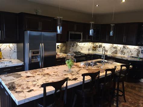 Kitchen With Island Images Blanc Du Blanc Granite Kitchen Island And Backsplash
