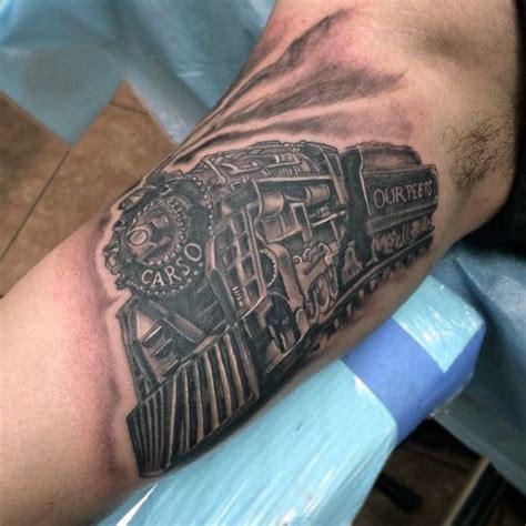 railroad tattoos 70 tattoos for masculine railroad designs