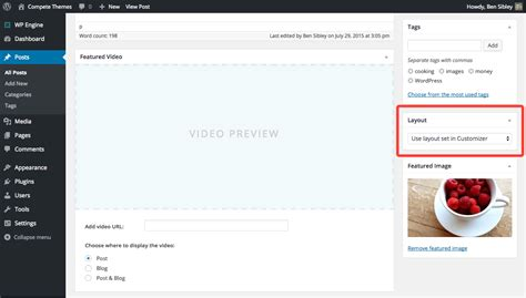 wordpress edit layout page how to change a post page layout
