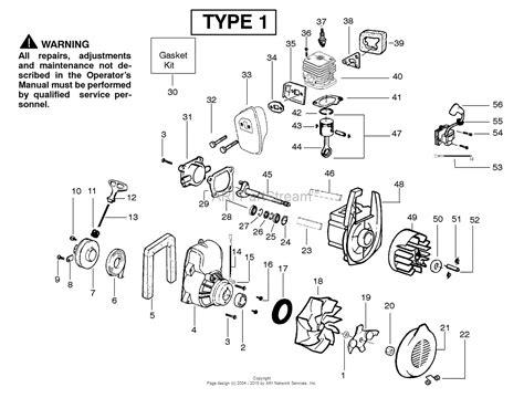 poulan parts diagram poulan ppbvm200 gas blower type 1 bvm200 gas blower type