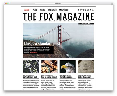 newspaper themes for word 20 best wordpress newspaper themes for news sites 2018