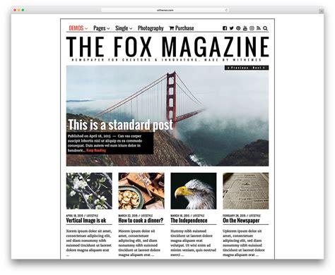 design magazine theme 20 best wordpress newspaper themes for news sites 2018