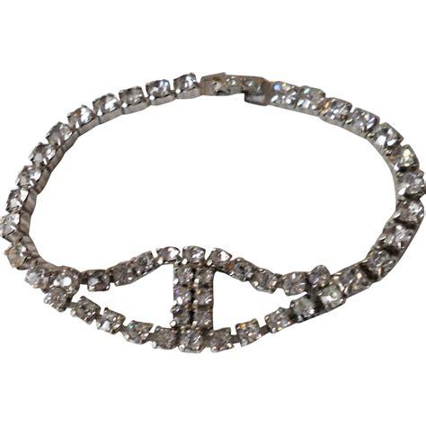 Rhinestone Bracelet vintage rhinestone bracelet from beca on ruby