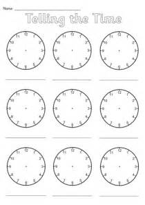 clock in sheet template blank clocks worksheet by simon h teaching resources tes