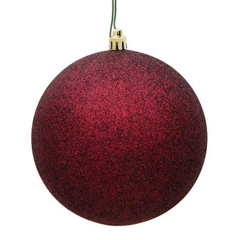 burgendy glittery christmasballs vickerman 481462 colored tree ornament