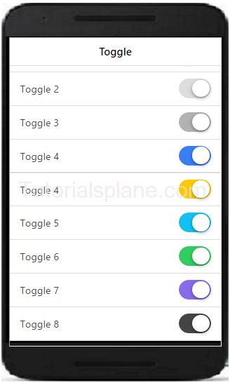 ionic radio tutorial ionic toggle exle button color ion toggle demo