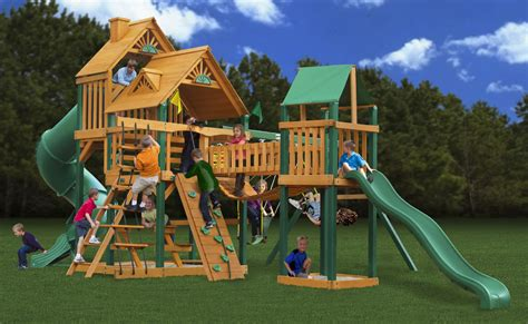 swing and playsets lowest price gorilla treasure trove playset swingset