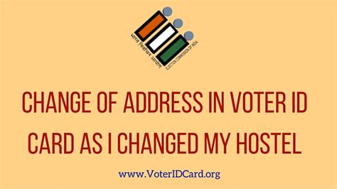 Address Search By Voter Id I Changed My Hostel How To Get Change Of Address In