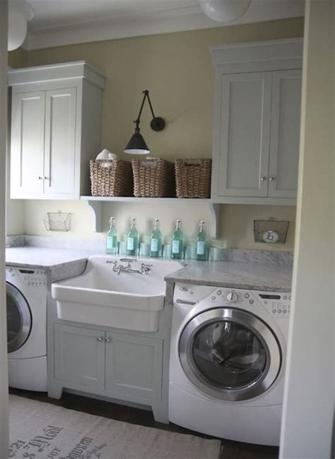 White Laundry Hers This Laundry Room Clean In All White And My Favorite Sink It A Can