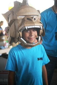 challenger school hollenbeck constructivity on recycled cardboard mask