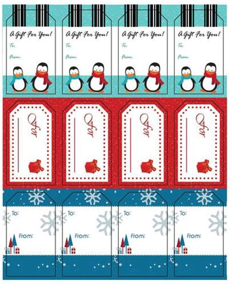 Holiday Gift Labels Templates