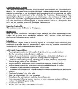 sle event coordinator resume 7 documents in pdf