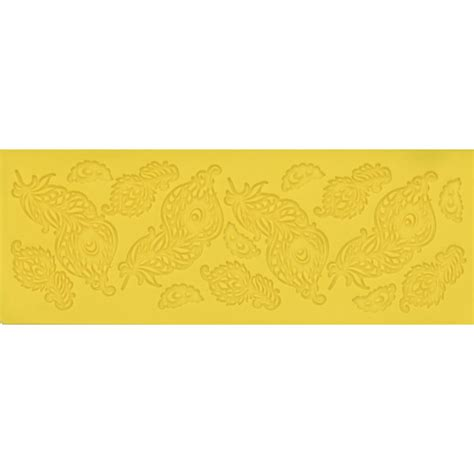 Silicone Stencil Mat by Feathers Small Silicone Lace Mat By Chef Alan Tetreault
