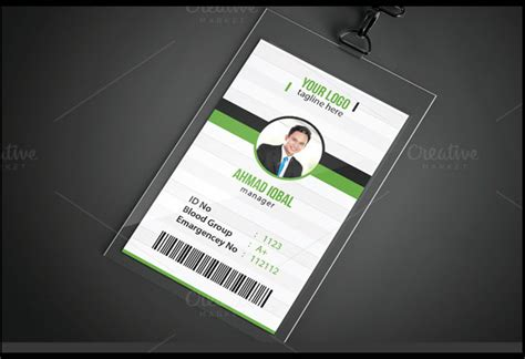 vertical id card template psd file free id card template psd file free id card template