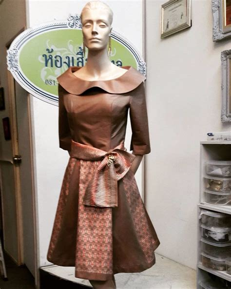 pembekal dress dari thailand thai silk design fashion limited edition ready made