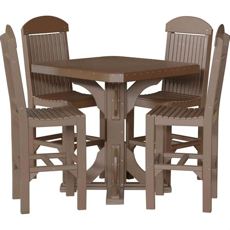 Luxcraft Furniture by Luxcraft Poly 41 Quot Square Table Set 183 Hostetler S Furniture