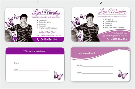 Funeral Celebrant Business Cards