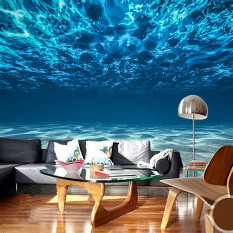 custom photo wall paper  deep sea scenery large mural