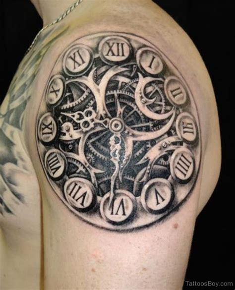 black grey tribal tattoos clock tattoos designs pictures page 15