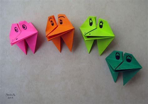 Origami Talking Frog - ek 252 s seda altay 8 hafta or箘gam箘 220 m 220 z ve 214 devler