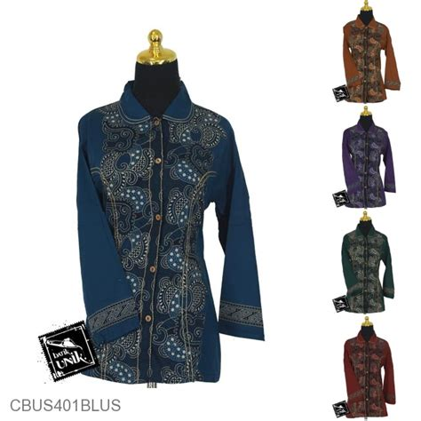 Kaos Lengan Panjang Unisex Motif Etnik Ungu sarimbit blus motif kerang nitik spiral blus lengan panjang murah batikunik