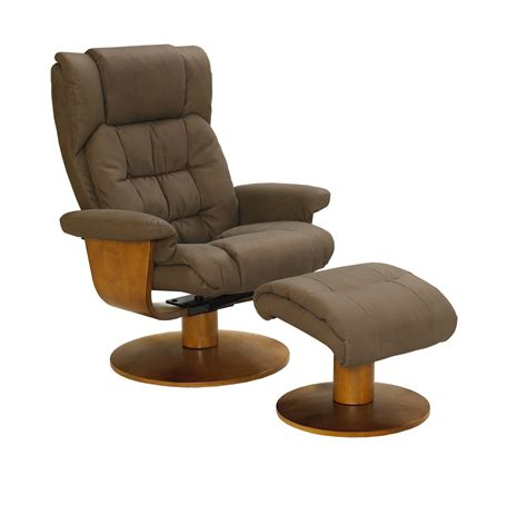 euro chair with ottoman mac motion vinci euro recliner and ottoman in chocolate