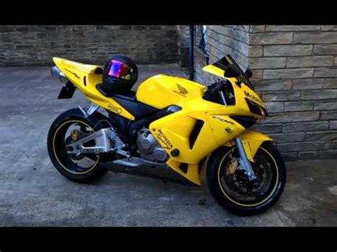honda cbr 600 yellow honda cbr 600 walk around one of a 2004 2005 yellow