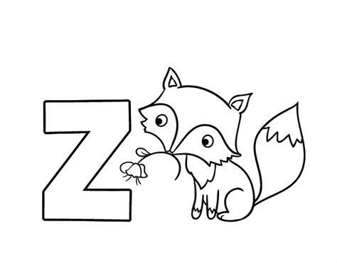 imagenes de animales con z dibujos de el abecedario para colorear