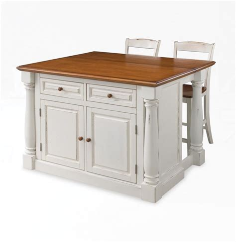 kitchen island at home depot home styles 206 lot de cuisine quot monarch quot avec 2 tabourets