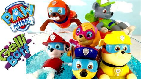 Zimplikids Gelli Baff paw patrol bath toys paddlin pups swim in gelli baff