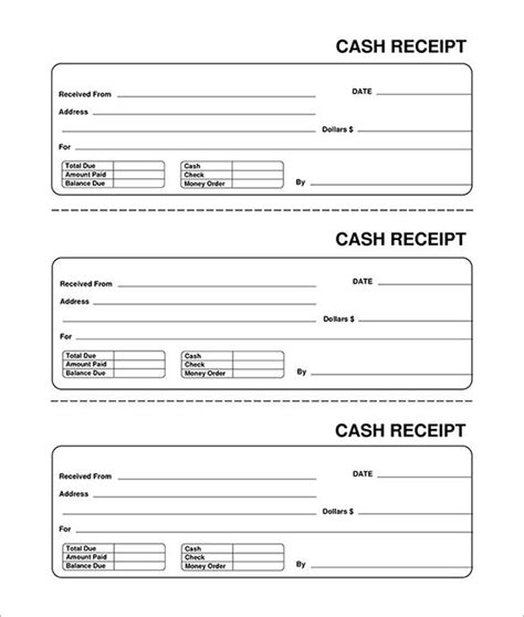 Template For Typed Receipts by Blank Receipt Receipt Template Doc For Word Documents In