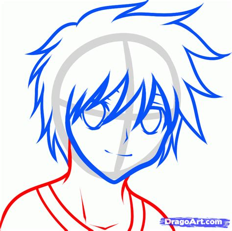 by step how to draw anime boys draw an anime boy for kids step by step drawing sheets