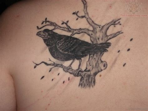 the crow tattoo 62 gleaming tattoos on back