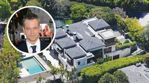 Spanish Villa Style Homes Matt Damon Selling Los Angeles House Variety
