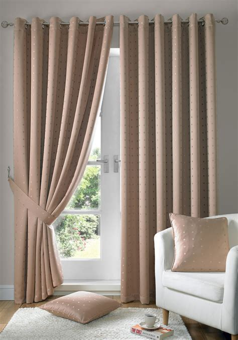 beige lined curtains jacquard check latte beige lined ring top eyelet curtains